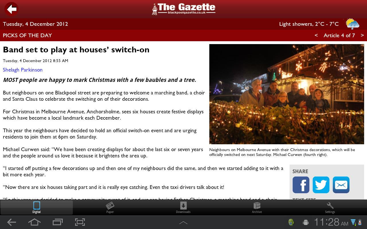 The Gazette, Blackpool - screenshot