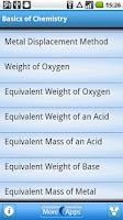 Screenshot of Chemistry Formula Calculator