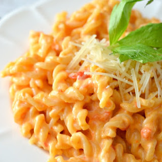 Roasted Red Pepper Macaroni and Cheese.