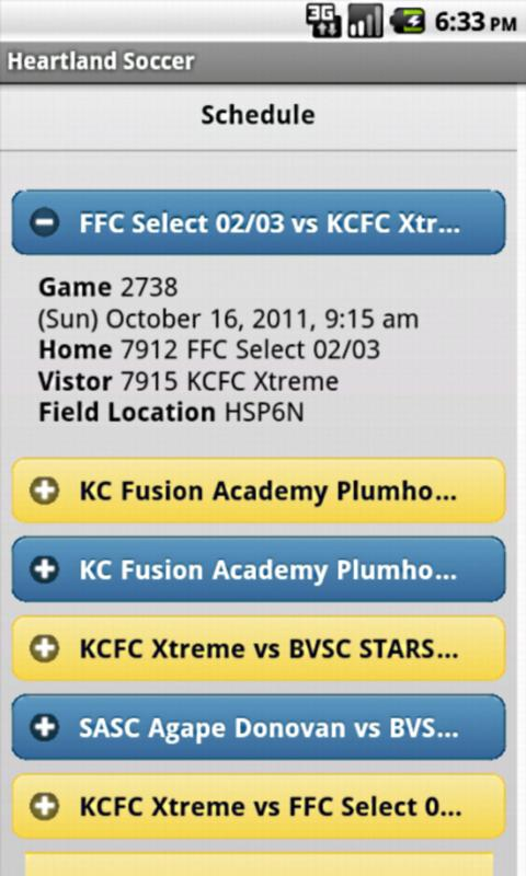 Heartland Soccer Mobile- screenshot