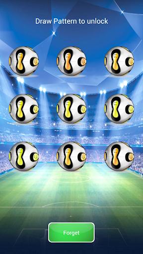 足球圖案的鎖