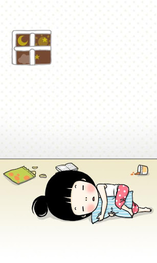 CUKI Theme Lazy girl Wallpaper