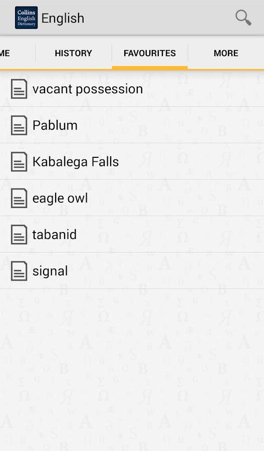 Collins English Dictionary TR - screenshot