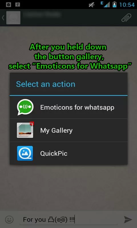 Emoticons for WhatsApp - screenshot