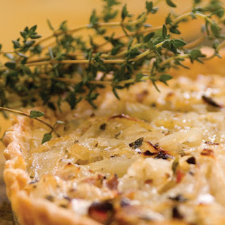 Vidalia Onion Tart with Bacon, Local Honey, and Fresh Thyme
