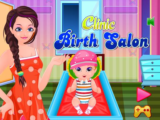 診所出生遊戲的女孩