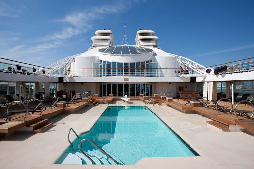 Seabourn_Odyssey_Sojourn_Quest_Pool_Deck_2-3 - Lounge in the sun or swim laps on the Pool Deck of Seaborn Sojourn.