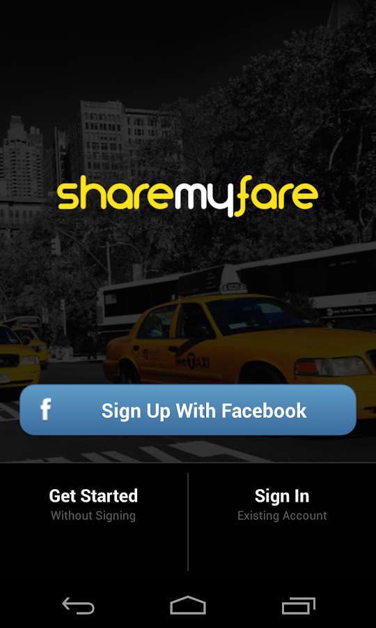 ShareMyFare - screenshot