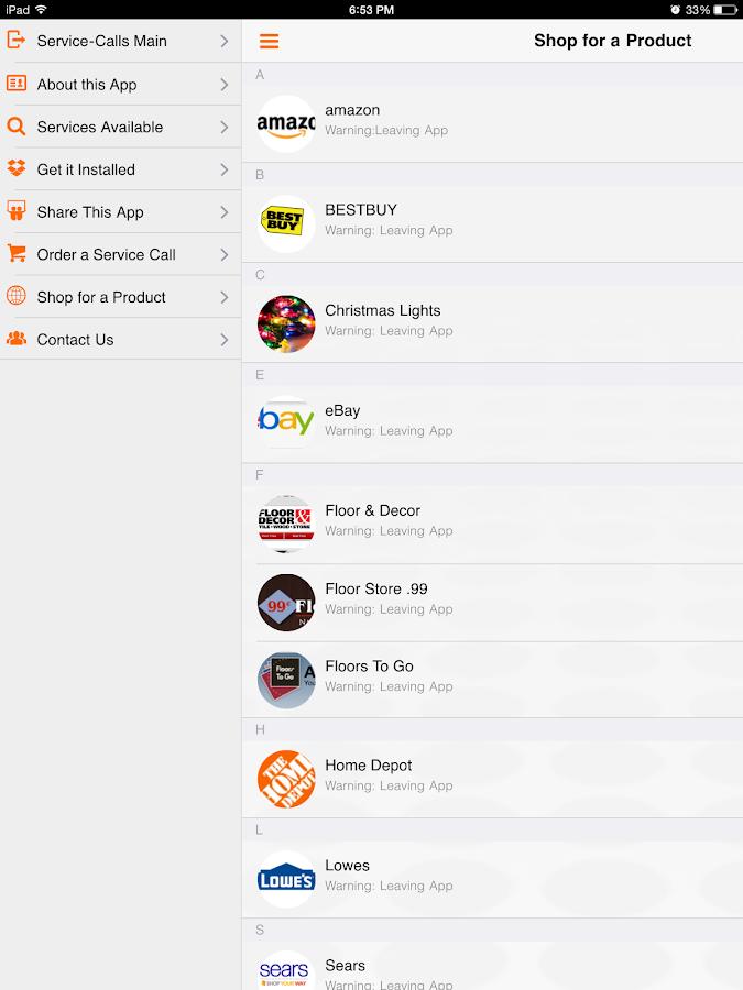 Service Call: Home Repair List- screenshot