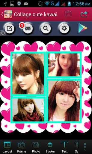 Collage photo cute kawai