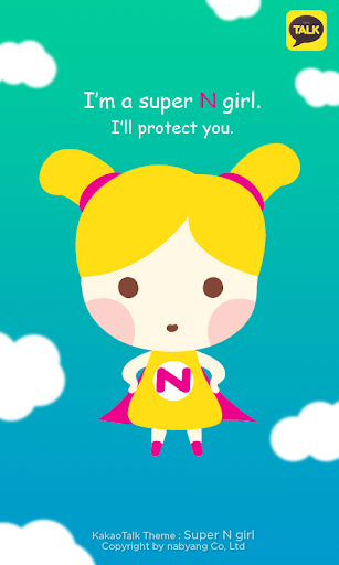 KakaoTalk Theme: Super N Girl