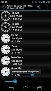 Clocks around the world- screenshot thumbnail