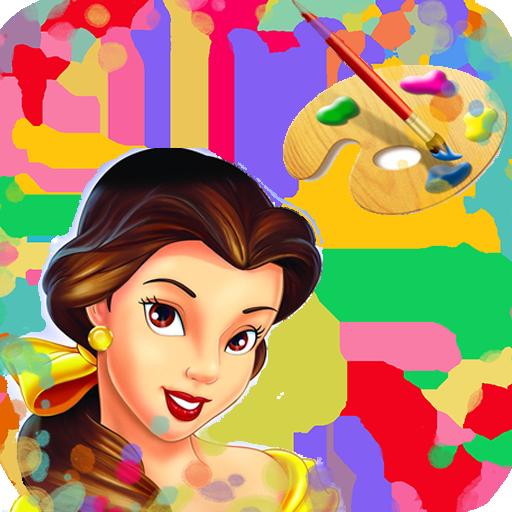 Coloring Princess LOGO-APP點子