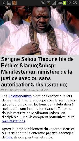 Screenshots for Senego News in Senegal