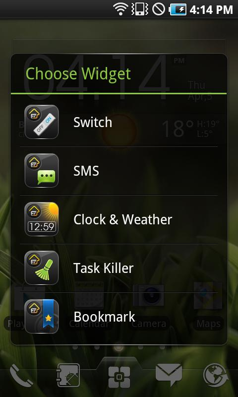 EZ SMS Widget - screenshot