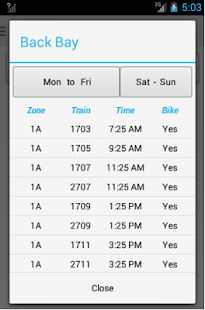Boston Train Schedule- screenshot thumbnail