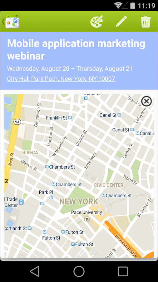 Calendar + - screenshot