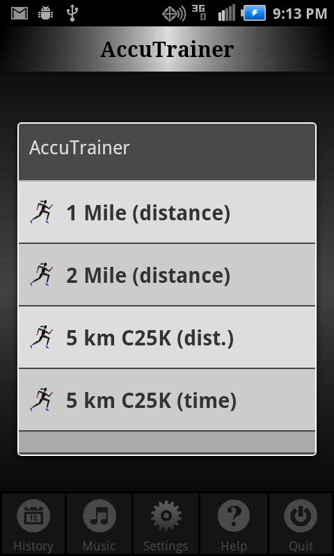 C25K Running AccuTrainer - screenshot