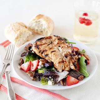 Strawberry Salad with Honey Poppy Seed Dressing.
