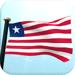 Liberia Flag 3D Live Wallpaper
