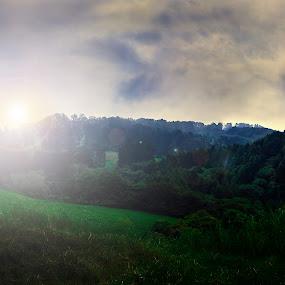 Sunrise by Jorge Madrigal - Landscapes Mountains & Hills ( hills, mountain, nature, sunset, landscape photography, forest, sunrise, landscapes, landscape, sun )