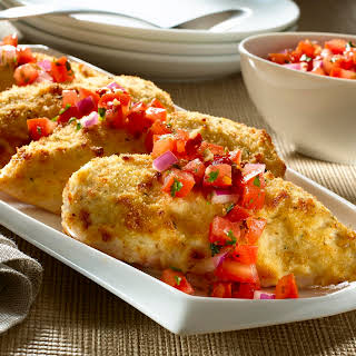 Parmesan-crusted Bruschetta Chicken .