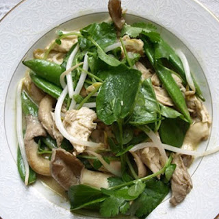 Skillet Chicken with Snap Peas, Mushrooms, and Coconut Curry