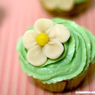Vanilla and Pistachio Cupcakes.