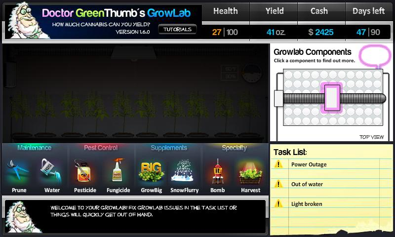 Dr. Greenthumb's Growlab - screenshot