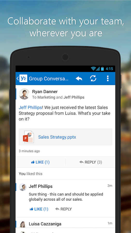 Yammer - screenshot