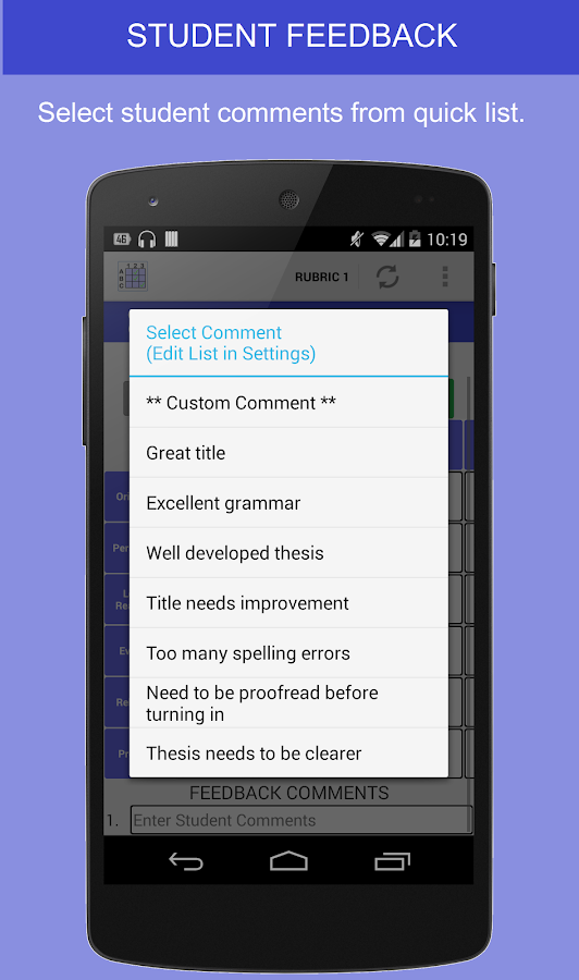 Rubric Scorer (free) - screenshot