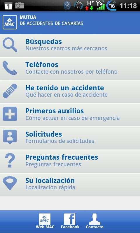 MAC Mutua Accidentes Canarias - screenshot