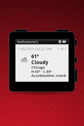 MOTOACTV Weather - screenshot
