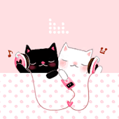 CUKI Theme Cute couple cat