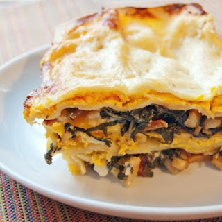 Butternut Squash Lasagna With Bacon-Braised Greens and Béchamel