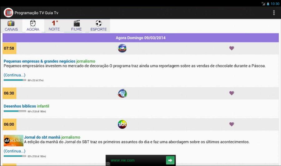 Programação TV - Guia TV BR- screenshot