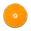 Fruit Clock Orange Widget icon