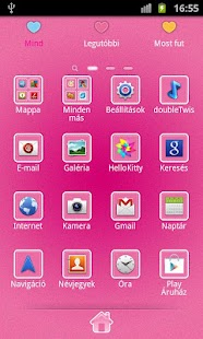 Hello Doggy Full Pink GO Theme - screenshot thumbnail