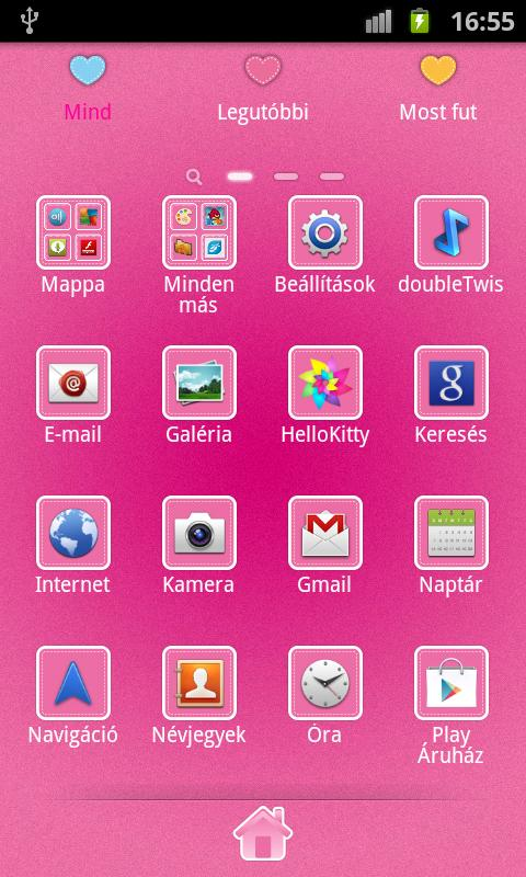 Hello Doggy Full Pink GO Theme - screenshot