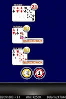 Screenshot of Lucky Sevens Blackjack FREE