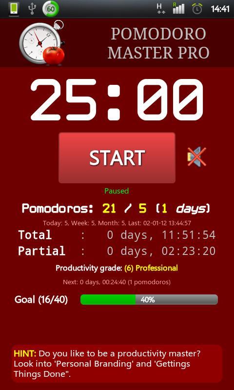 Pomodoro Master Pro- screenshot