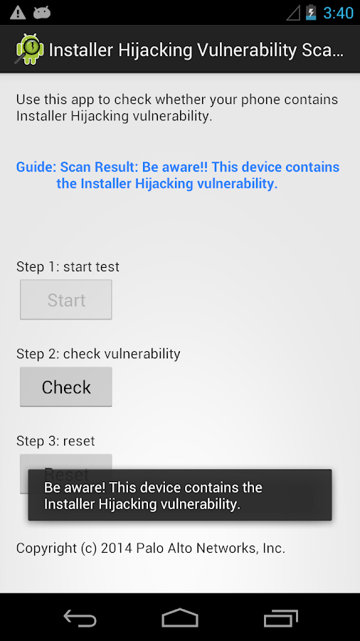 Installer Hijacking Scanner- screenshot