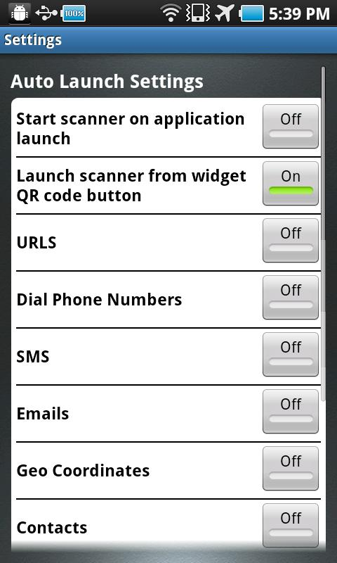 QRC Reader- screenshot