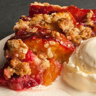 Peach Melba Pie