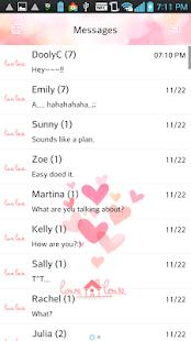 lovelove go sms theme - screenshot thumbnail