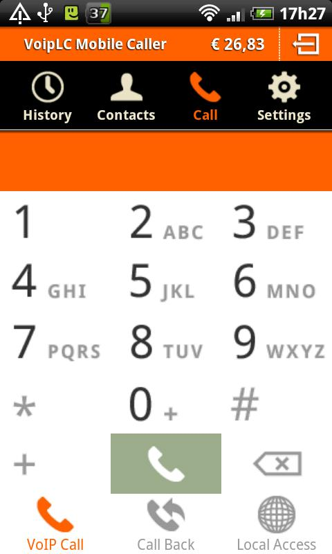 VoipLC Mobile Caller - screenshot
