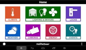 Screenshot of HS3Touch Home Automation