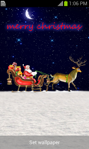 Santa Riding in Snow Live WP