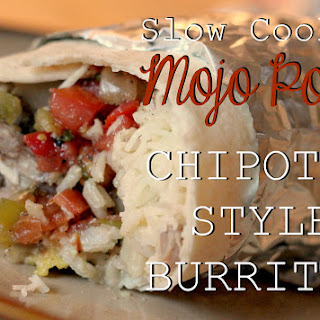 Slow Cooker Mojo Pork for Chipotle Style Burritos.