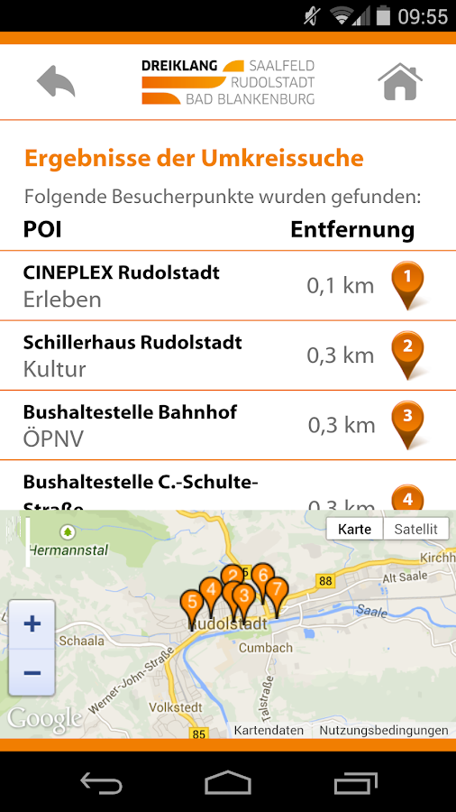Dreiklang Touristenführer- screenshot